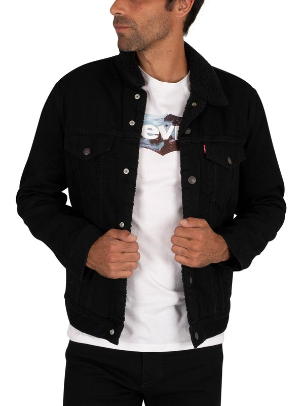 Levi's Type 3 Sherpa Trucker Jacket - Black