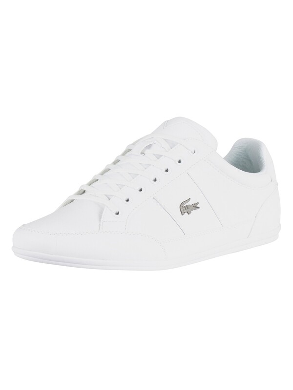 Lacoste Chaymon BL 1 CMA Leather Trainers - White/White