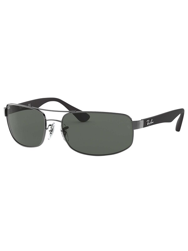 Ray-Ban RB3445 Rectangular Sunglasses - Gunmetal/Black