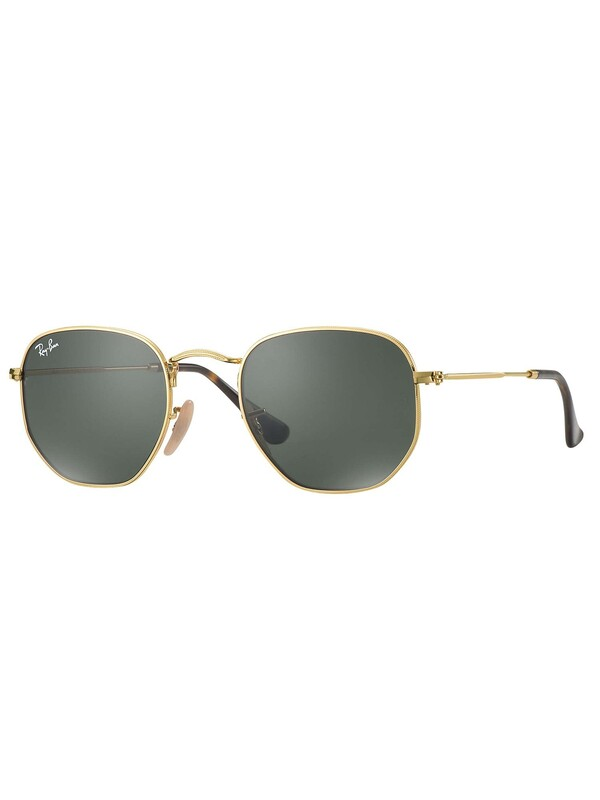Ray-Ban RB3548N Hexagonal Sunglasses - Gold