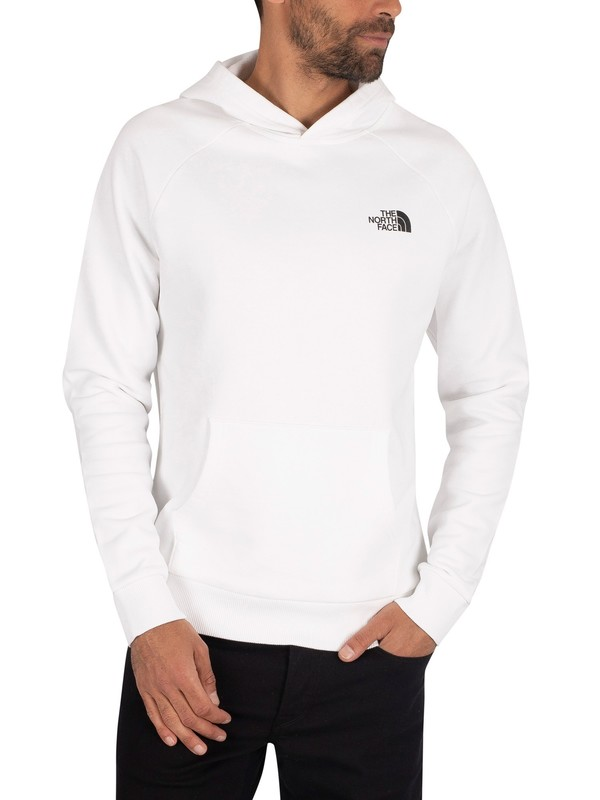 The North Face Raglan Red Box Pullover Hoodie - White