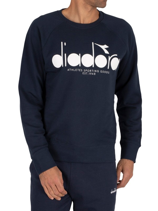 Diadora Graphic Sweatshirt - Blue Denim