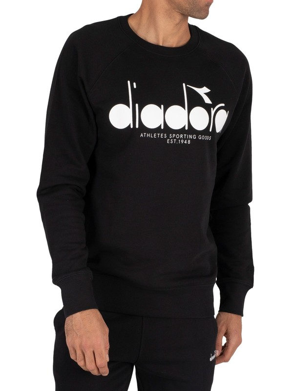 Diadora Graphic Sweatshirt - Black/Optical White