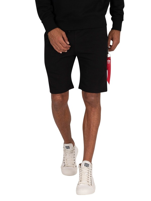 Alpha Industries X-Fit Cargo Sweatshorts - Black