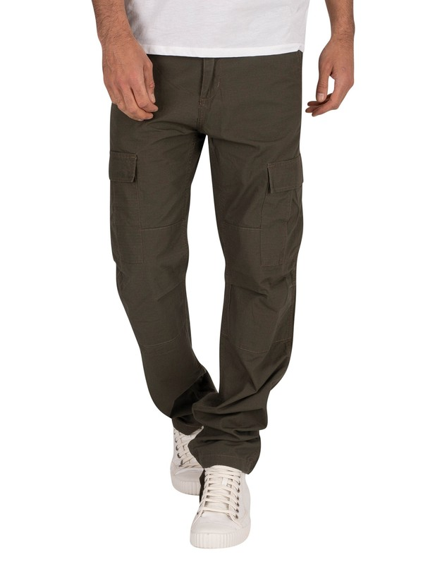 Carhartt WIP Rinsed Aviation Slim Fit Cargos - Cypress