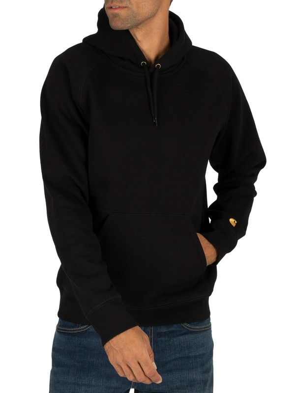 Carhartt WIP Chase Pullover Hoodie - Black/Gold