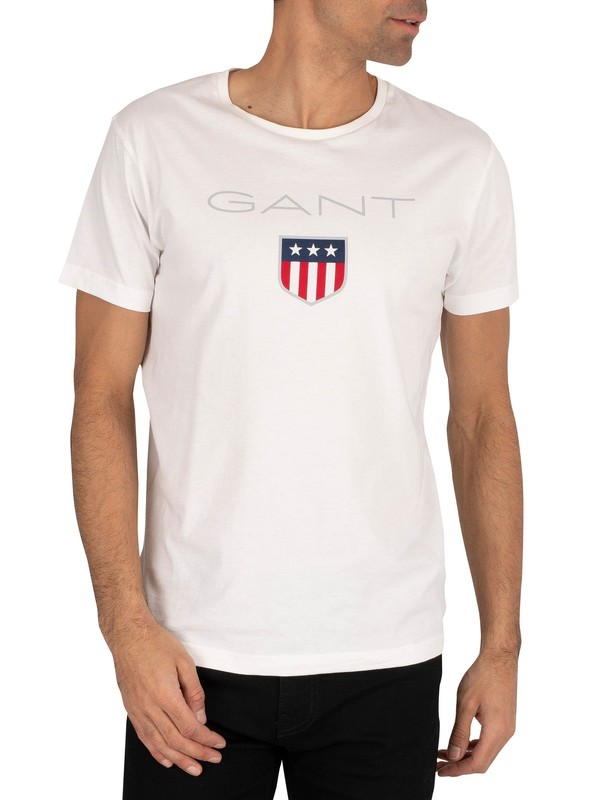 Gant Shield Logo T-Shirt - Eggshell