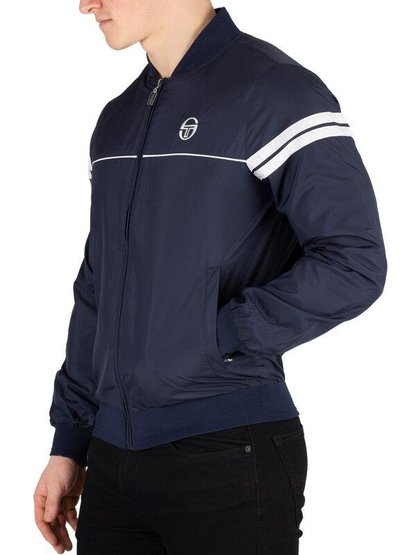 Sergio Tacchini Light Bomber Jacket - Navy/White