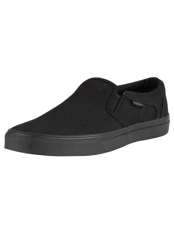 Vans Asher Canvas Trainers - Black/Black