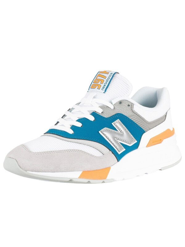 New Balance 997 Suede Trainers - Grey/White/Blue