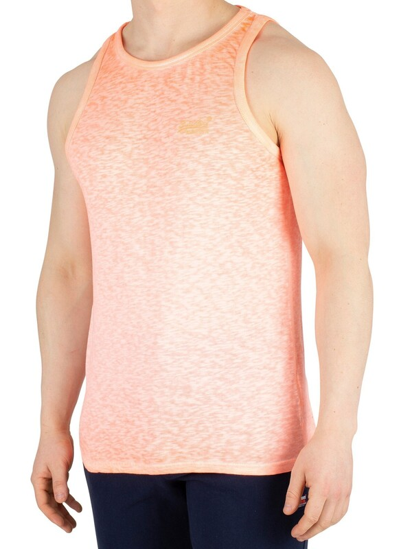 Superdry Low Roller Vest - Bright Blast Coral