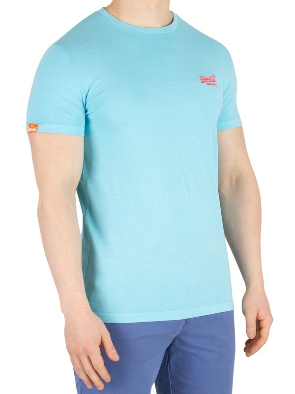 Superdry Orange Label Neon T-Shirt - Ice Blue