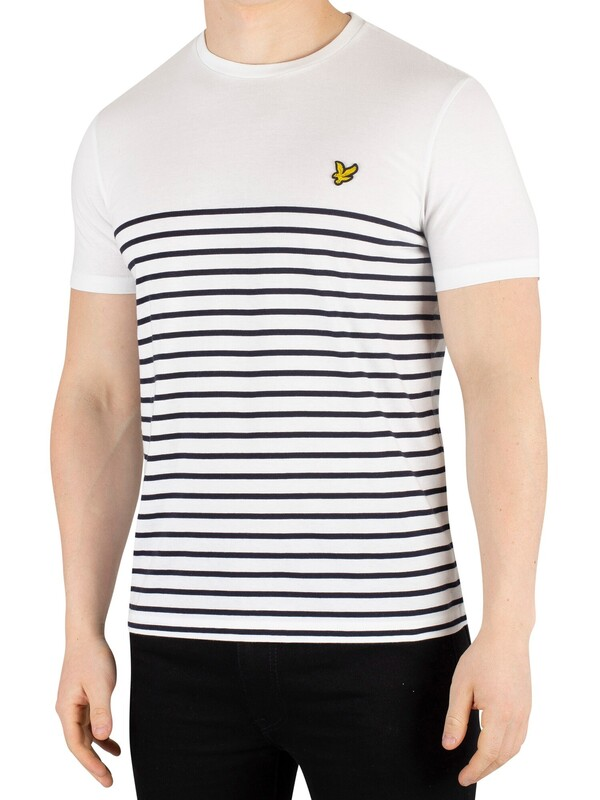 Lyle & Scott Breton Stripe T-Shirt - White/Navy