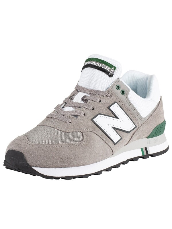 New Balance 574 Suede Trainers - Grey/White