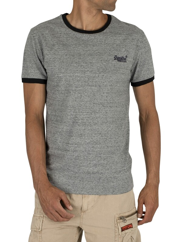 Superdry Orange Label Cali Stack T-Shirt - Flint Grey Grit