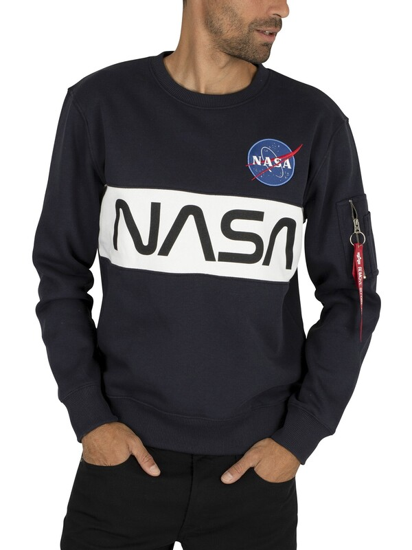 Alpha Industries NASA Inlay Sweatshirt - Rep Blue