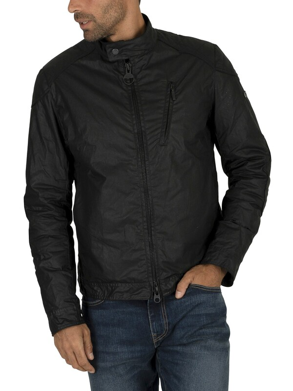 Barbour International Argyle Wax Jacket - Black