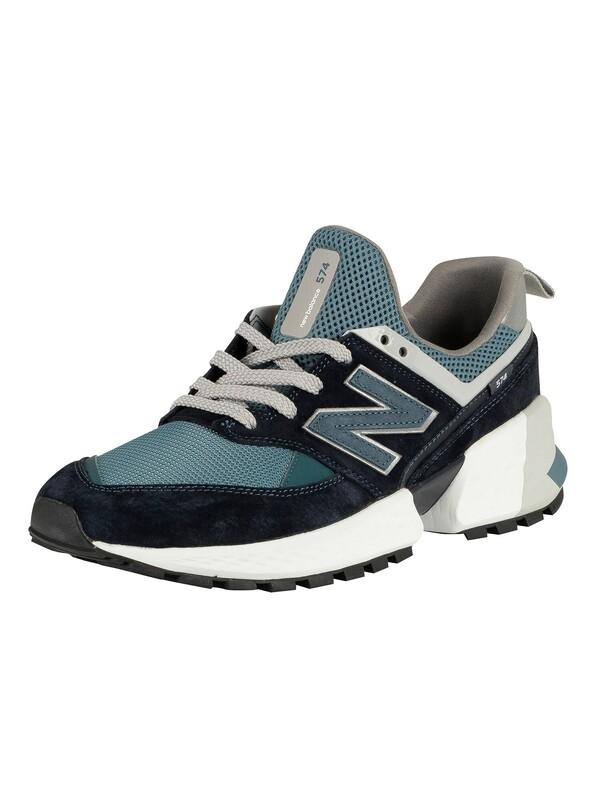 New Balance 574 Suede Trainers - Navy/Blue