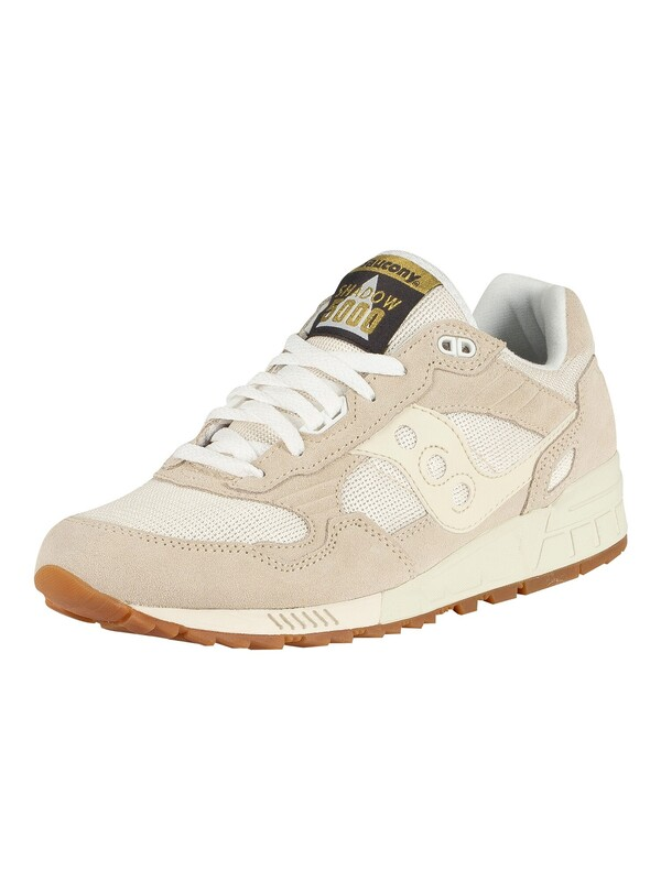 Saucony Shadow 5000 Suede Trainers - Tan/White
