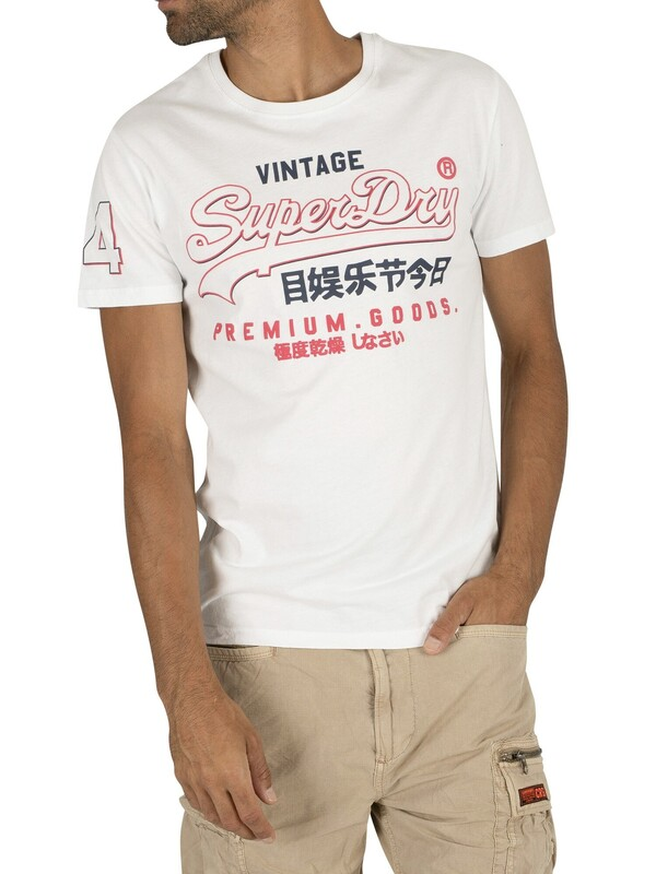 Superdry Premium Goods Outline Mid T-Shirt - Optic