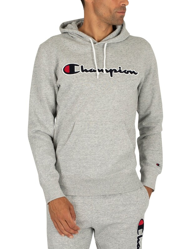 Champion Graphic Pullover Hoodie - Light Grey