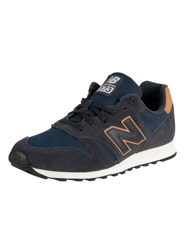 New Balance 373 Suede Trainers - Navy