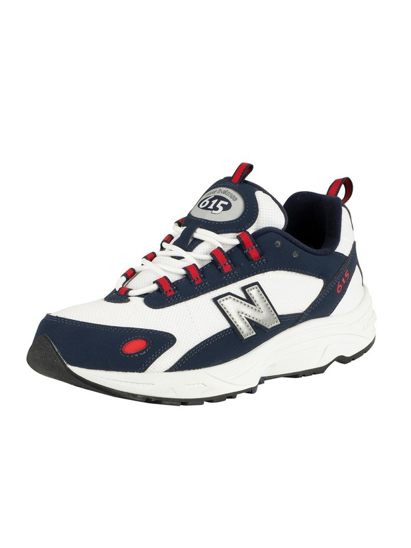 design intemporel 3c615 342ea New Balance 615 Trainers - Navy/Red/White