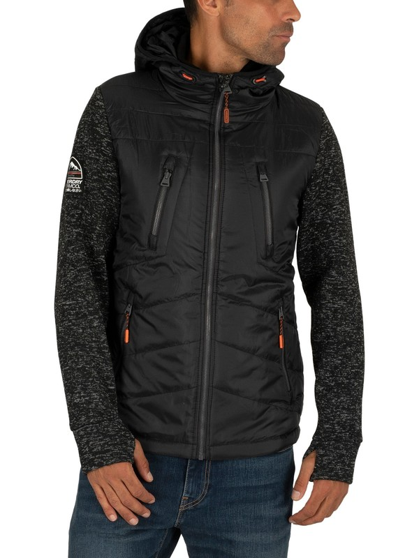 Superdry Storm Hybrid Zip Jacket - Gritty Black