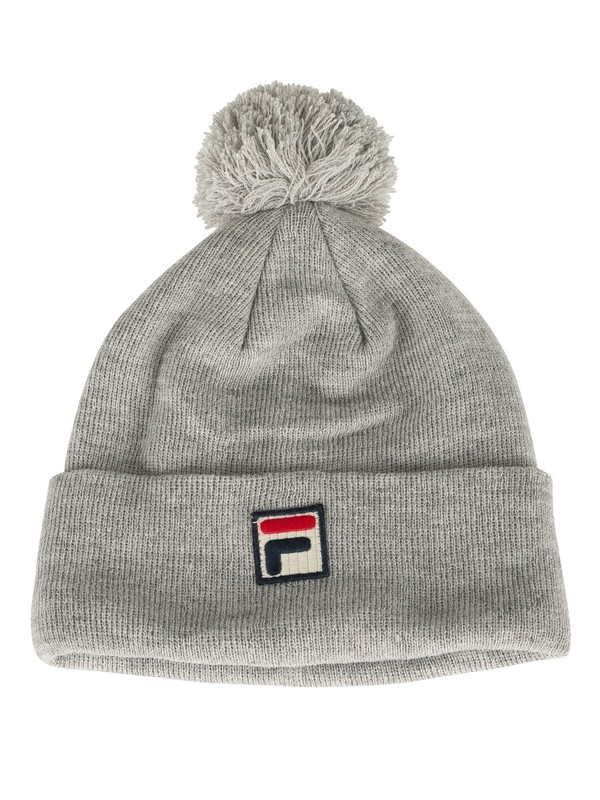 Fila Wilson Turn Up Beanie - Light Grey Marl