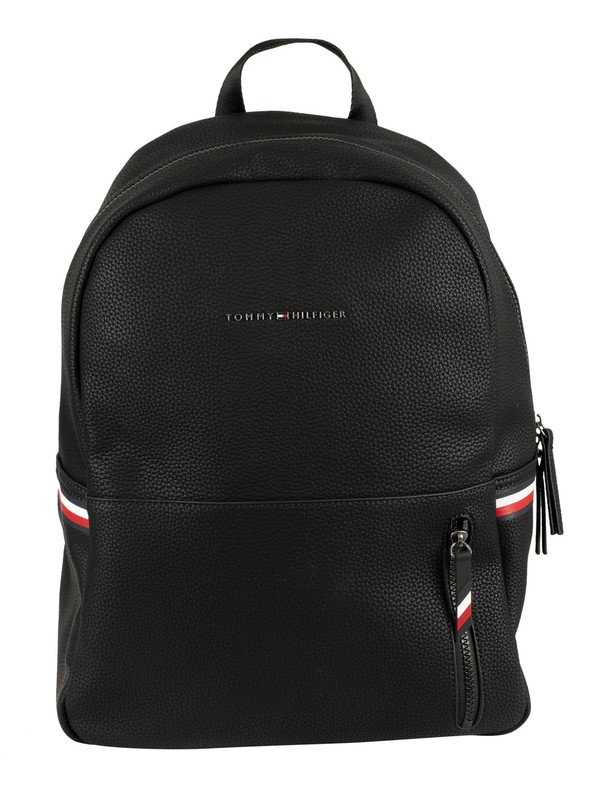 Tommy Hilfiger Essential Pebble Grain Backpack - Black