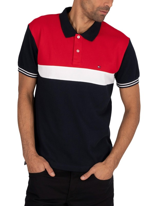Tommy Hilfiger Colourblock Regular Poloshirt - Desert Sky/Multi
