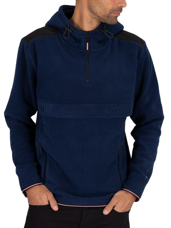 Tommy Hilfiger Polar Fleece Anorak Jacket - Desert Sky