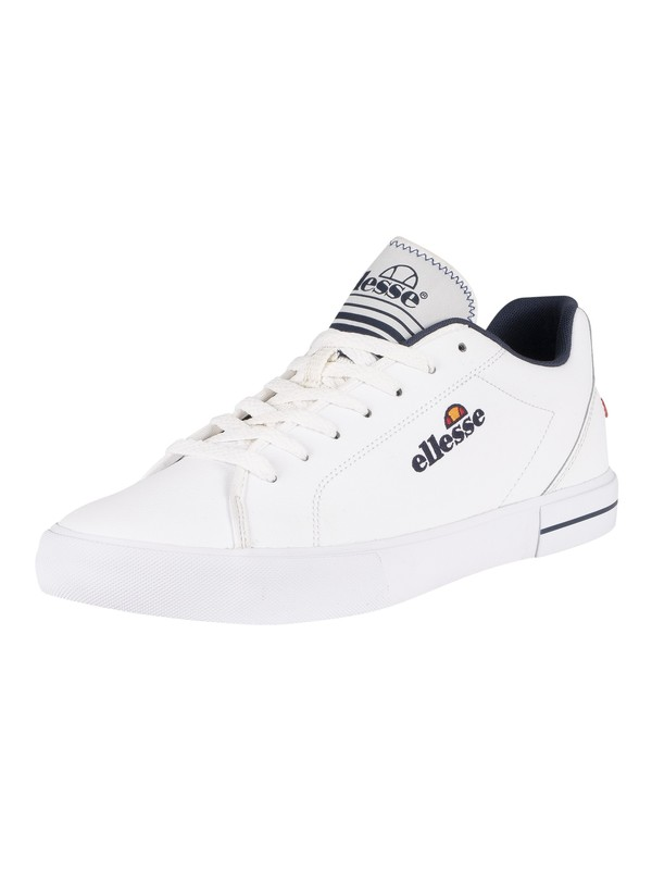 Ellesse Taggia Leather Trainers - White/White/Dark Blue