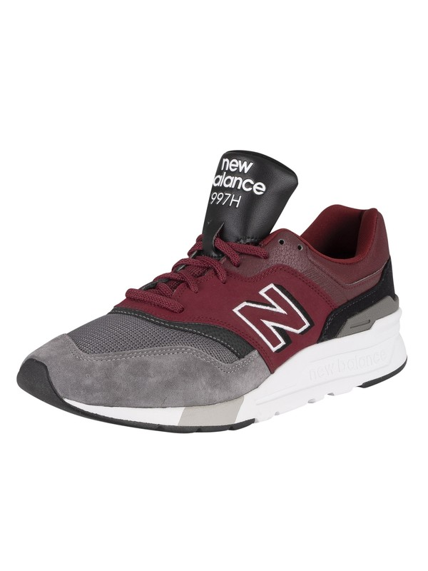 New Balance 997H Suede Trainers - Burgundy/Black