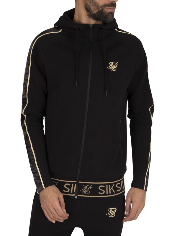 Sik Silk Dani Alves Branded Zip Hoodie - Black