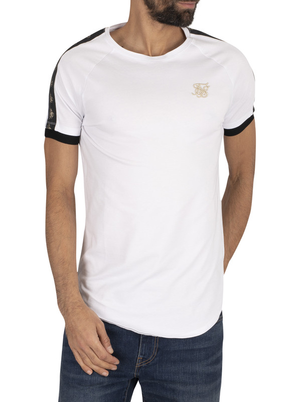 Sik Silk Raglan Tech T-Shirt - White/Black