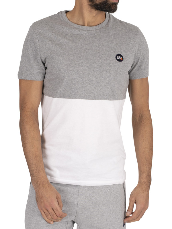 Superdry Collective Colour Block T-Shirt - Grey Marl