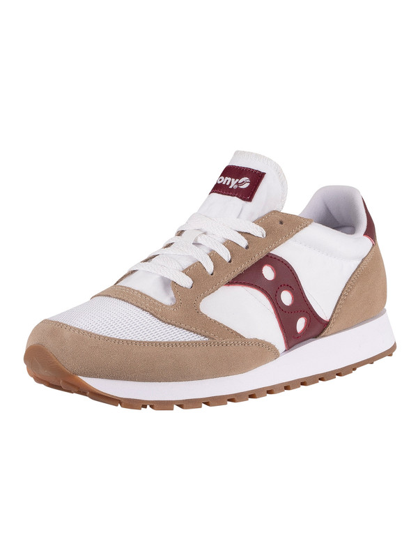 Saucony Jazz Original Vintage Trainers - Tan/White/Wine