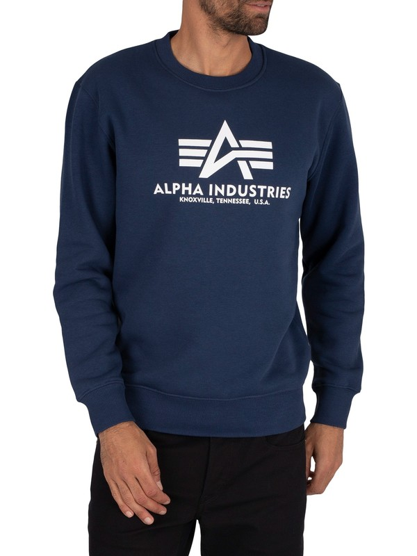 Alpha Industries Basic Graphic Sweatshirt - New Navy