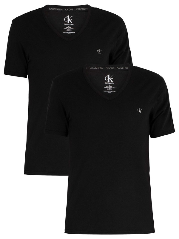 Calvin Klein 2 Pack V-Neck T-Shirt - Black