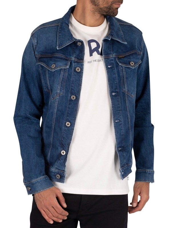 G-Star 3301 Slim Denim Jacket - Faded Stone