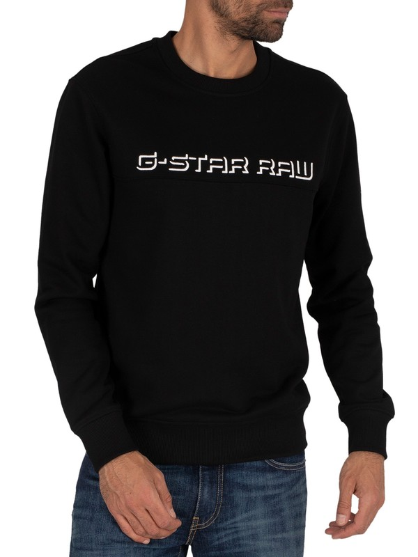 G-Star Embro Panelled Sweatshirt - Dark Black
