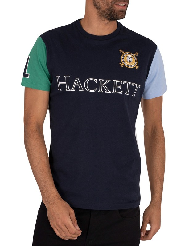 Hackett London Multi Graphic T-Shirt - Navy