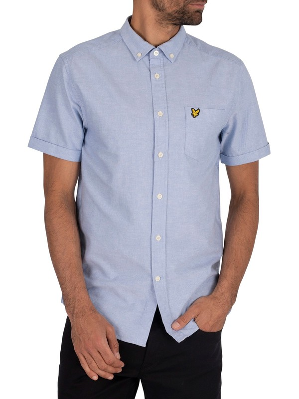 Lyle & Scott Oxford Short Sleeved Shirt - Riviera