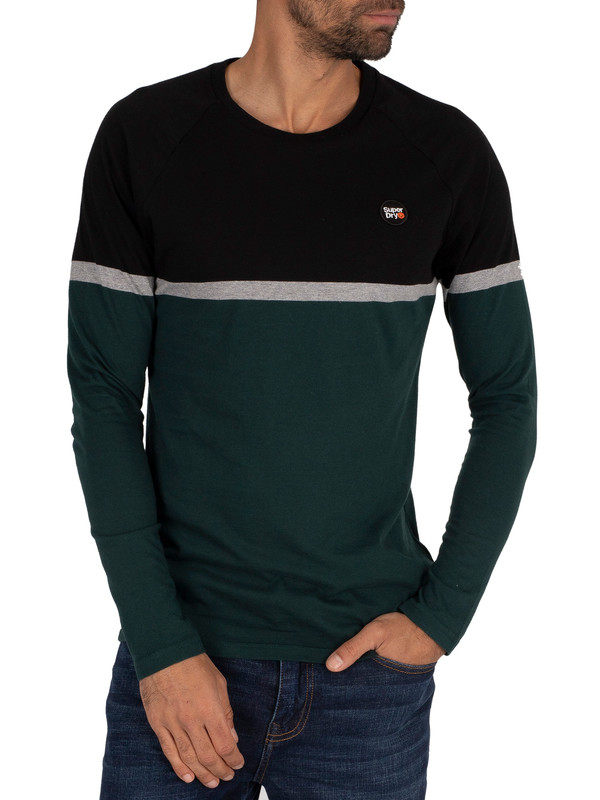 Superdry Collective Colour Block Longsleeved T-Shirt - Pine