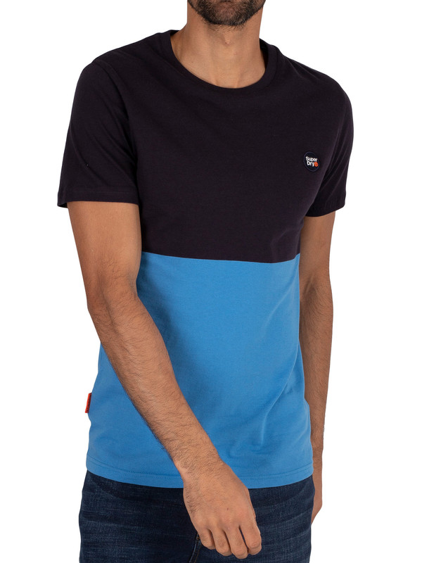 Superdry Collective Colour Block T-Shirt - Darkest Navy