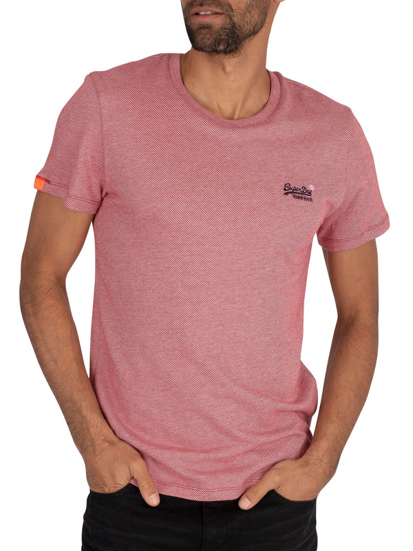 Superdry Vintage EMB T-Shirt - Red Twill
