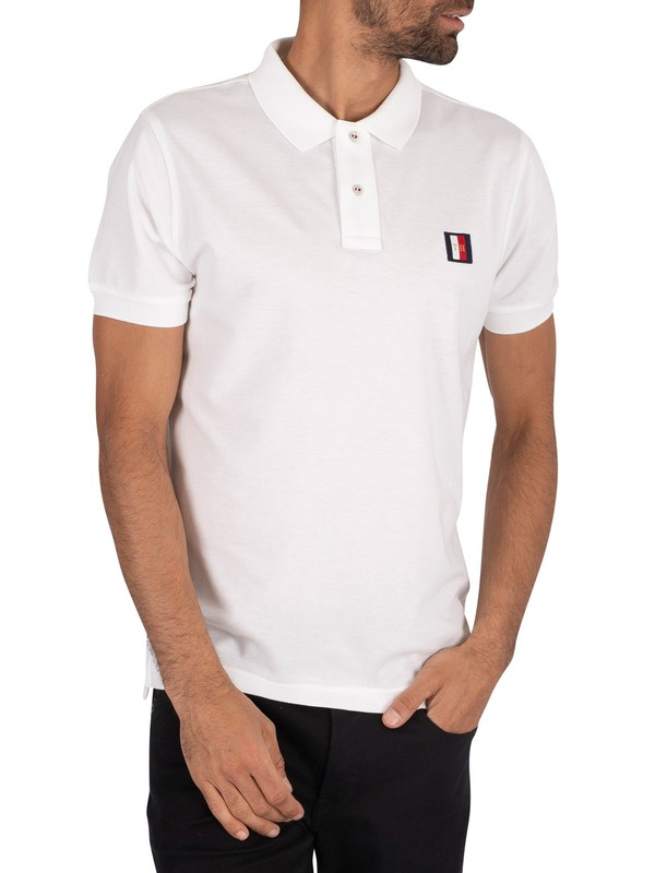 Tommy Hilfiger Icon Mini Badge Polo Shirt - White