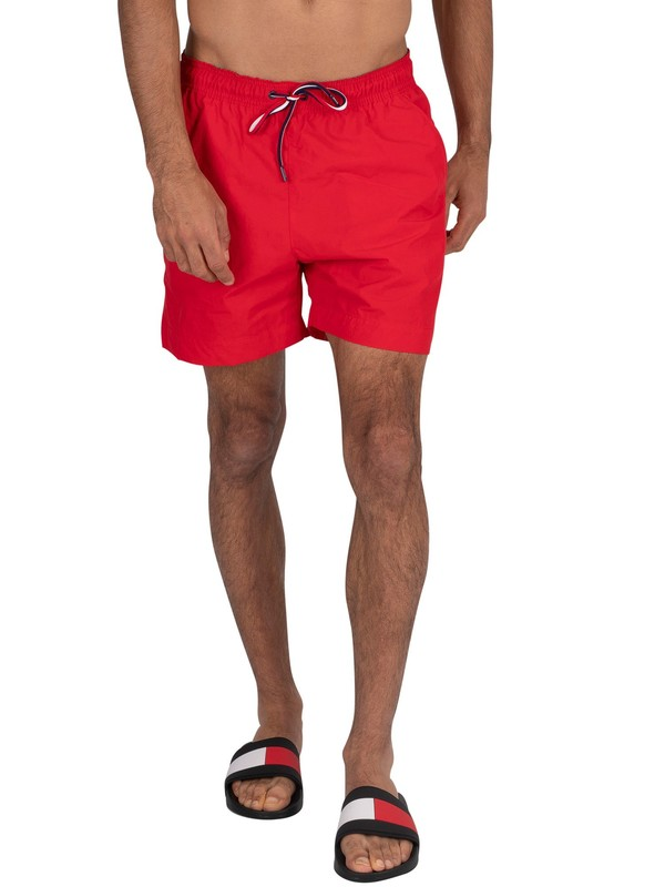 Tommy Hilfiger Medium Drawstring Swim Shorts - Red Glare