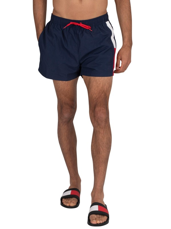 Tommy Hilfiger Short Drawstring Swim Shorts - Pitch Blue